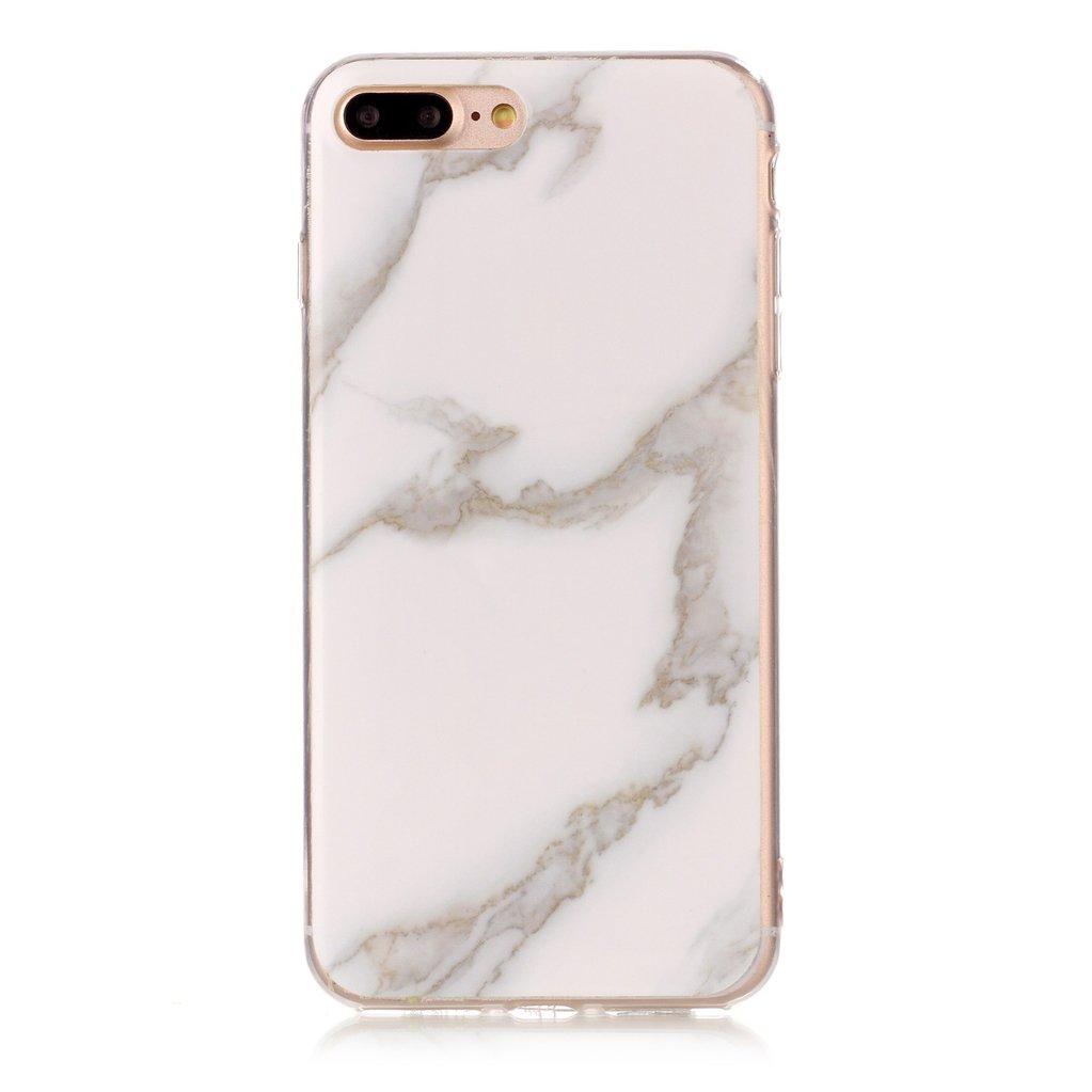 Yunbaoz Funda Compatible para iPhone 7 Plus Mármol, iPhone 8 Plus Case Diseño Mármol Carcasa Suave Goma Silicona Soft Marble Case Suitable for Textura ...