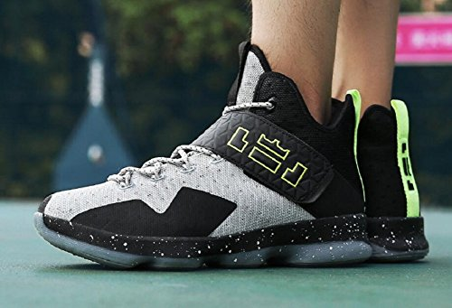 Basketball Men's Black by Gray Fashion Sneakers Performance Women's JiYe Shoes Sports Outdoors qHt5cn