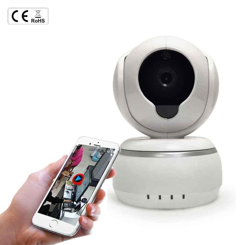 Drahtlose IP Überwachungs-Kamera,Indoor Baby Monitor,Netzwerk IP Kamera,P2P Netzwerk Dome Überwachungskamera,350°/110°schwenkbar IP Kamera mit Bewegungsmelder und Videoaufzeichnung