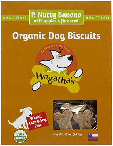 Wagatha's Organic P. Nutty Banana Dog Biscuits, 16 OZ