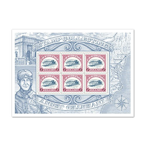 $2 Stamp Collecting: Inverted Jenny Souvenir Sheet of 6 (6 Stamps Souvenir Sheet)