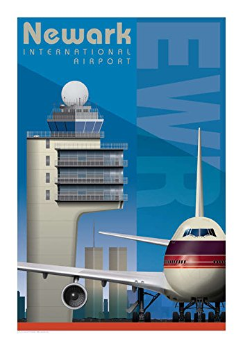 (Airport Series Art Print Poster EWR Newark Liberty International Airport)