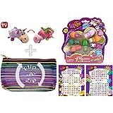 FlipaZoo - Flipzee 5 Inch Lavender Unicorn / Dragon and 7 Pack Bundle w/ Exclusive Flip-A-Zip Bag