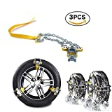 Easy to Install Winter Truck Car Snow Chain Tire Anti-Skid Belt,3pcs/Set,for Tire Width: 235-285mm