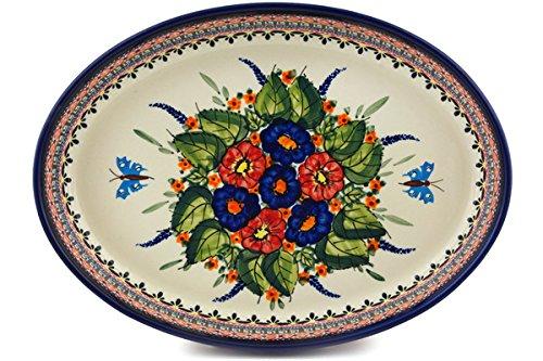 Polish Pottery Oval Baker 12-inch Spring Splendor UNIKAT by Polmedia Polish Pottery (Image #2)
