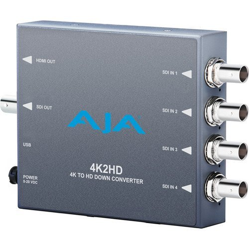 AJA 4K2HD 4K/UHD to HD-SDI and HDMI Downconverter by AJA Video Systems by Aja