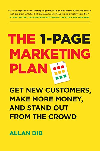 amazon com the 1 page marketing plan get new customers make more