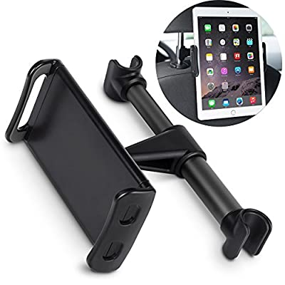 """MOREZONE Car Headrest Mount Phone & Tablet Holder, Rotatable & Adjustable, Car Seat Back Stand Bracket for CellPhone & iPad Other Devices 4""""-10.1"""""""
