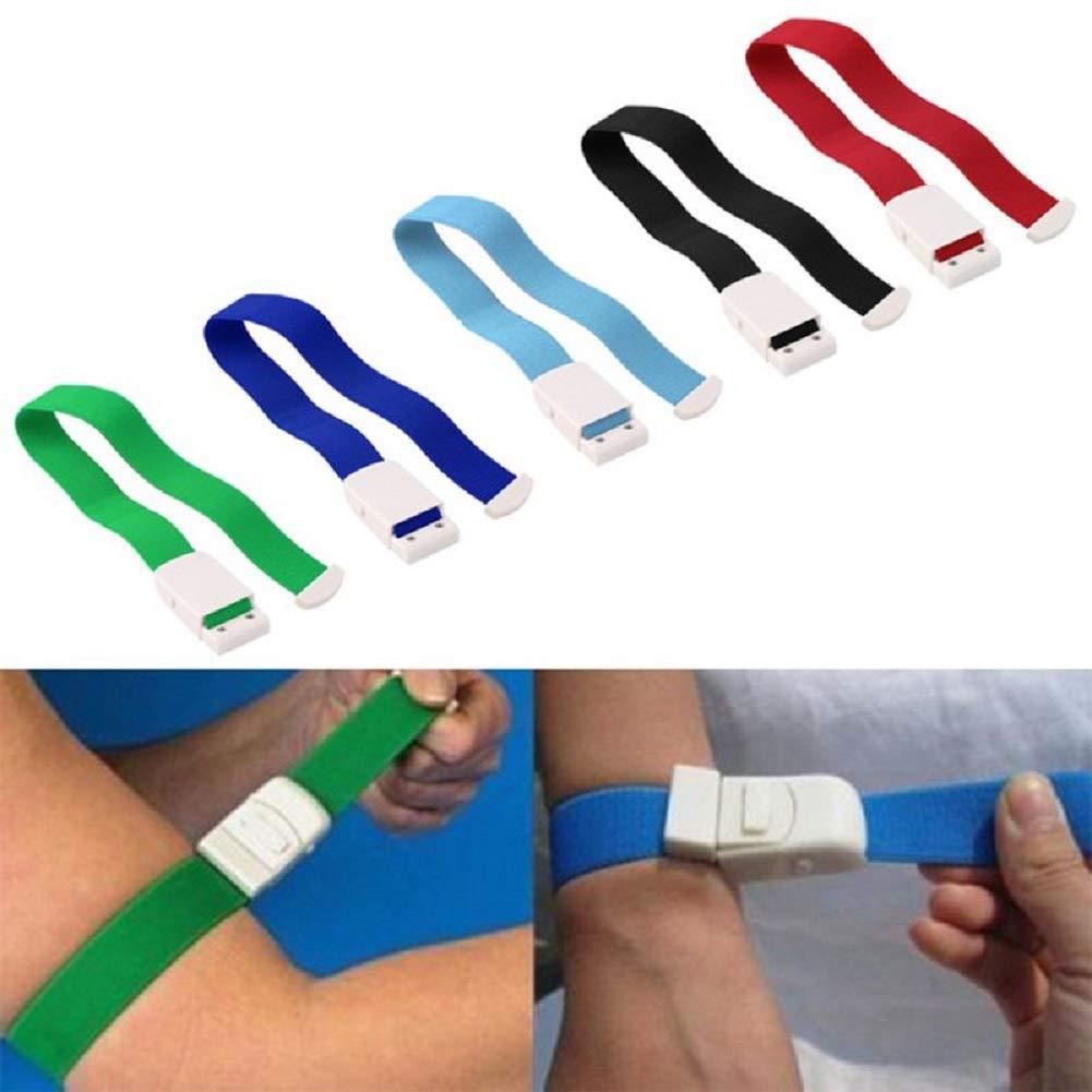Laccio Emostatico Tourniquet: Realizzato per pronto soccorso 3 pacchetti di colori per emergenze gravi e occlusione del flusso sanguigno escursionismo e kit di emergenza