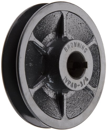 Browning 1VP40X3/4 Variable Pitch Sheave, 1 Groove, Finished Bore, Cast Iron Sheave, for 3L, 4L or A, 5L or B Section Belt