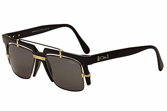 324c465a49e2 Image Unavailable. Image not available for. Color  Cazal Legends 873 001  Shiny Black Gold Retro Fashion Sunglasses 53mm