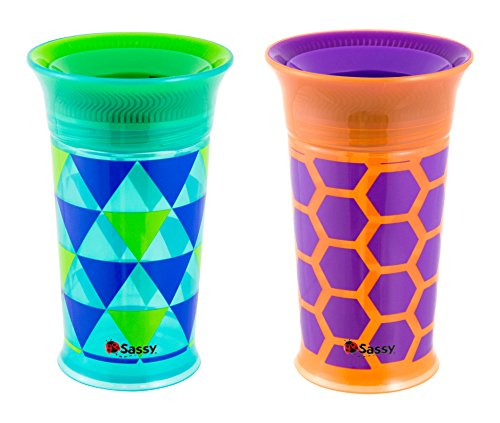 Sassy Deco Cup 9oz, 2 Count (Colors and Style may - Non Spill Cup Magic