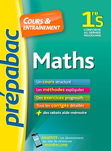 prepabac cours et entrainement: 1re - maths - s french edition
