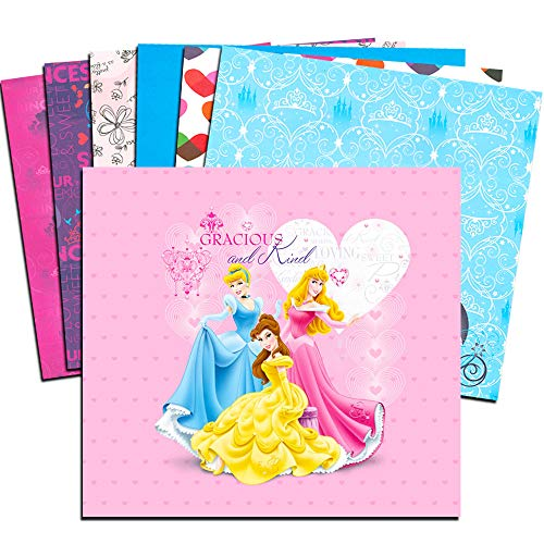 (Sandy Lion Disney Princess Scrapbook Album Set - Premium Disney Princess Album, 120 Paper Sheets and Stickers (12