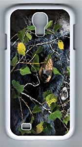 Children's Find 8 Black Bears Polycarbonate Hard Case Cover for Samsung Galaxy S4/Samsung Galaxy I9500 White