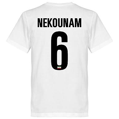 fbe7bfc05 Iran Nekounam Team T-shirt - White  Amazon.co.uk  Clothing