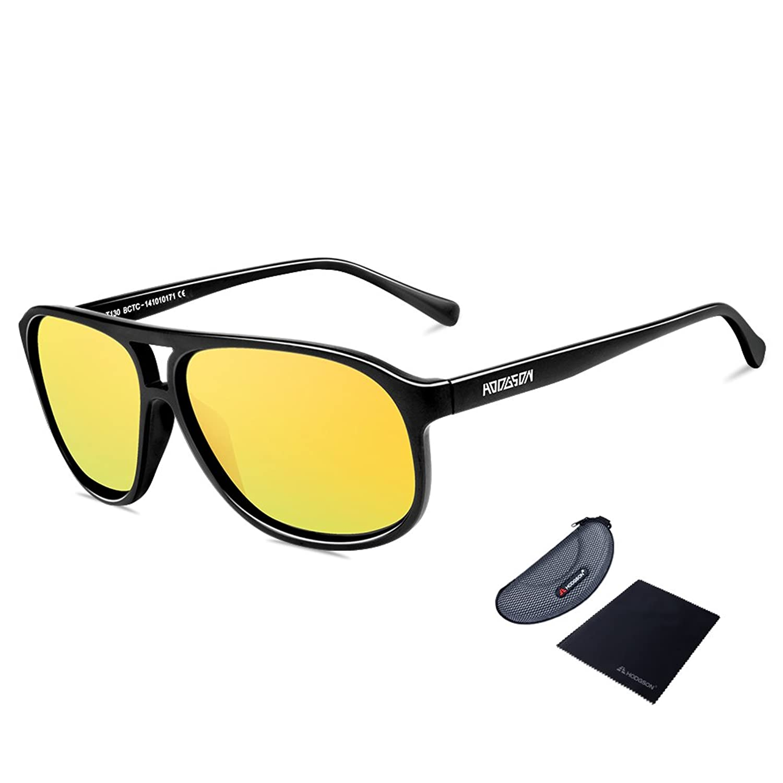 WY Männer Sonnenbrille Metall Fahrer Sonnenbrille , B,B