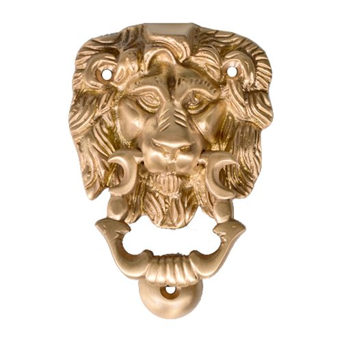 Brass Coated Knocker - Adonai Hardware Lion Brass Door Knocker
