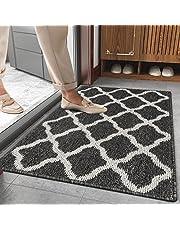 SHACOS Doormat Indoor Outdoor Door Mat Non Slip Waterproof Backing Front Door Rug Mat Washable Dirt Trapper Floor Carpet Mat for Entryway Kitchen Garage