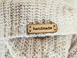 3DP CUSTOMIZABLE: Handmade Leather Labels C | 15 pcs | Exclusive engraved genuine italian leather tags