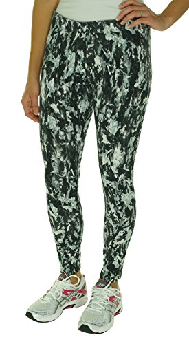Nike Women's Leg A See Mishmash Sport Casual Leggings-Gray/Black-Large