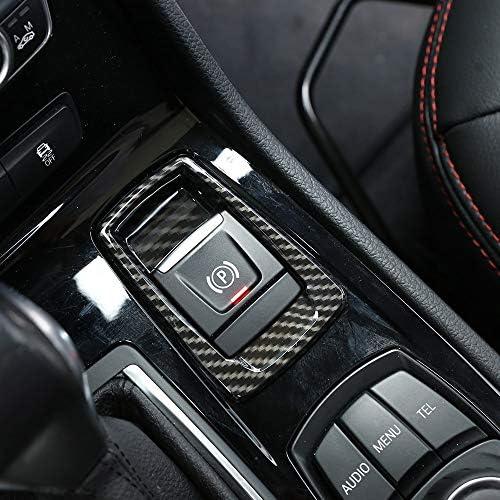 Karbonfaser Für 218i Gran Tourer F45 F46 Abs Chrom Elektronische Handbrems Tastenabdeckung Verkleidung 2015 2017 Auto