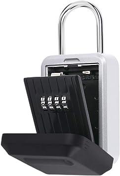 IOppWin Key Lock Box Large Capacity Wall Mounted Weatherproof Key Safe Box with