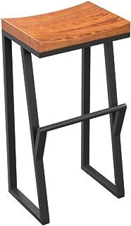JDⓇ Sgabello Alto da Bar in Legno massello per la Prima Colazione da Pranzo, Ideale per la Famiglia e Il Lavoro (Dimensioni : 38CM*36CM*70CM)
