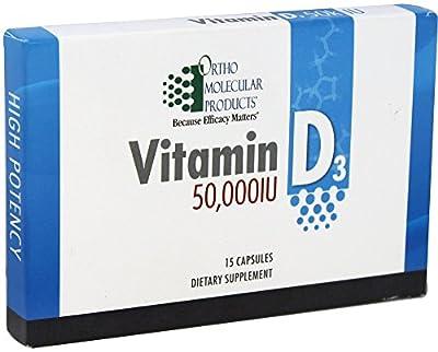 Ortho Molecular Vitamin D3 50000IU 15 Capsules