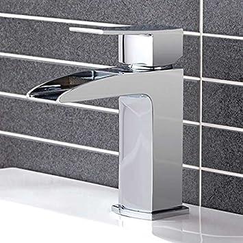 Luxus badezimmer waschbecken wasserhahn cascade wasserfall mixer modernes hebel griff design hergestellt aus