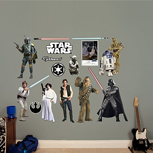 Original Star Wars Characters (Fathead Star Wars Original Trilogy Characters Collection Real Decals)