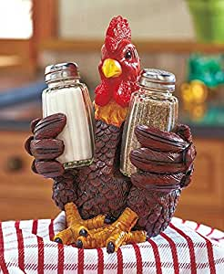 Barnyard Rooster Salt and Pepper Sets