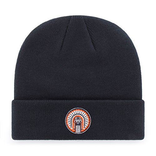 Acrylic Fighting Illini Football (OTS NCAA Illinois Fighting Illini Raised Cuff Knit Cap, Navy, One Size)