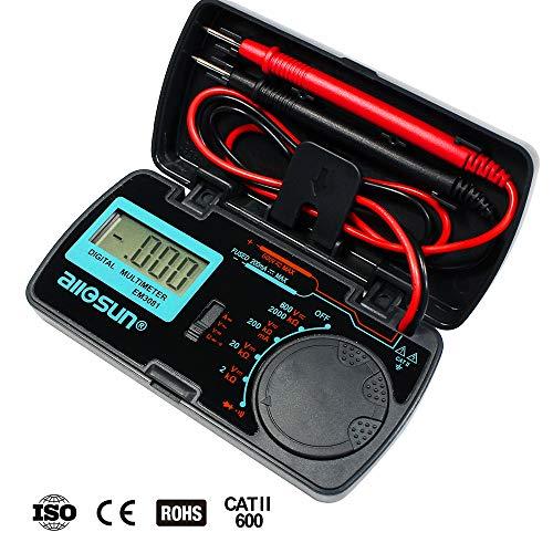 allsun Manual Range Digital Multimeter Mini 6 Functions Handheld Folding