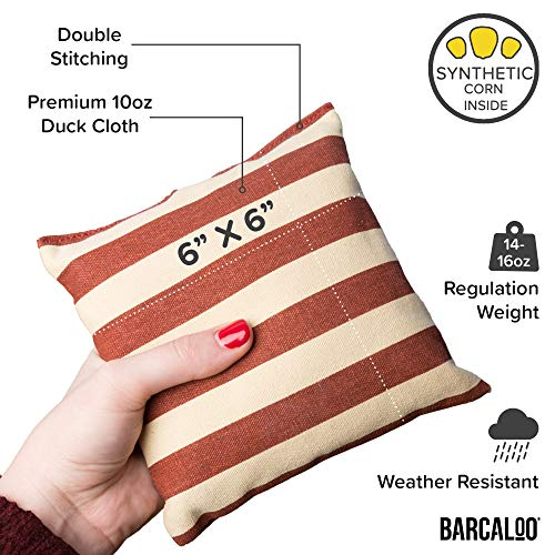 Corn Filled Cornhole Bags Set of 8 American Flag Bean Bags for Corn Hole Game