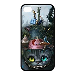Alice in Wonderland We're all mad here Cheshire Cat Together Unique Durable Hard Case Cover for Apple Iphone 4 4S Custom Design Fashion DIY