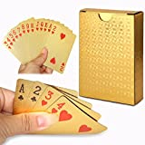 Cisixin Durable Waterproof Luxury 24K Gold Foil Poker Playing Cards with Box