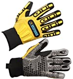 Impacto WGWINRIGGL Dryrigger Oil and Water Resistant Winter Glove, Yellow/Black by Impacto Protective Products Inc.