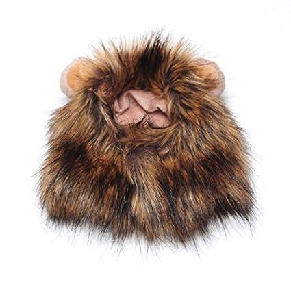 sungpunet 1 pcs mascotas perro gato León Mane peluca con pequeñas orejas Halloween Dress Up