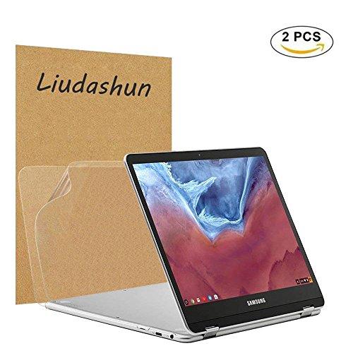 samsung chromebook plus V2 Screen Protector,HD Clear LCD Anti-Scratch Anti-Fingerprints Guard Film For 12.2'' samsung chromebook plus V2 2-in-1(Such as Model: XE521QAB-K01US) Laptop(2-pack) by Liudashun