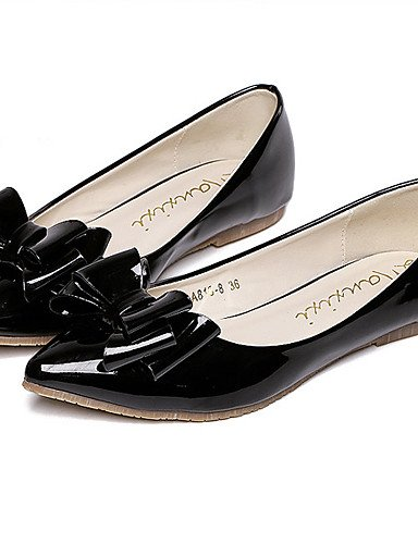piel talón negro mujer plataforma us5 sintética eu36 zapatos Casual PDX rosa cn35 uk3 5 de 5 plano de Toe pink Punta Flats qx4Cfn