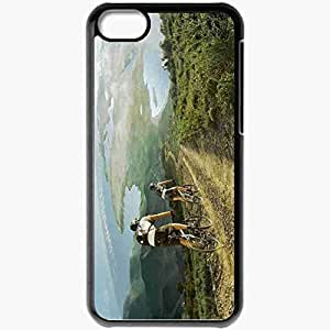 Personalized iPhone 5C Cell phone Case/Cover Skin Afrique Europe V Road Ride A Bike Black