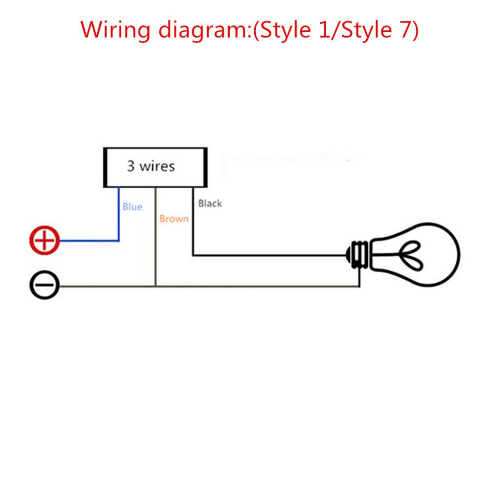 Dc12v 10a Motorcycle Headlight Switch 1 25mm Handlebar 1966 Dodge Charger Wiring Diagram On Off Switcher Control Cnc Led Indicate Light Grip Holder Mounting Bracket Cable 50cm