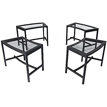 Amazon Com Cobraco Steel Mesh Rim Fire Pit And Two Bench