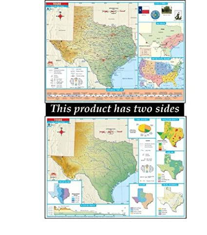 Complete Map Of Texas.Amazon Com Universal Map 27195 Texas Thematic Deskmap Class Set