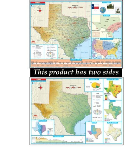 Thematic Map Of Texas.Amazon Com Universal Map 27195 Texas Thematic Deskmap Class Set