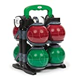 EastPoint Sports Resin Bocce Ball Set - Features Deluxe Carry Case - Includes 8 Bocce Balls in 2 Team Colors, 1 Palino, and 1 Measuring Tape