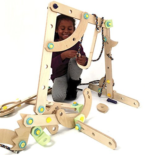 Rigamajig Junior Building Kit Designed for Hands-on Play & STEM Learning. Encourage Creativity and Critical Thinking with This Loose-Parts Building kit, for Kids Ages 5+