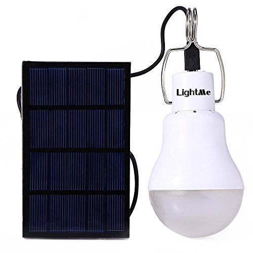 LM Solar Powered Led Bulb Light Outdoor Solar Energy Lamp Lighting for Hiking Fishing Camping Tent ()