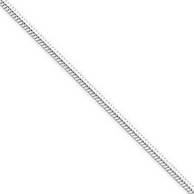 8db9ac498f7cb6 2.1mm Italian 060 Gauge Thick Sterling Silver Snake Chain Necklace 14, 16,  18